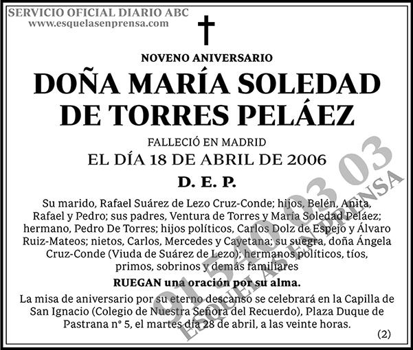 María Soledad de Torres Peláez